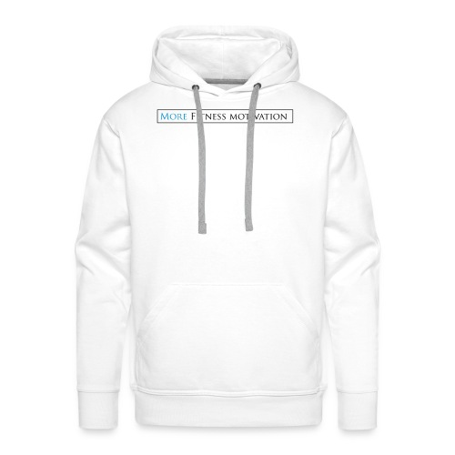 Female More fitness Motivation white/pink - Men's Premium Hoodie