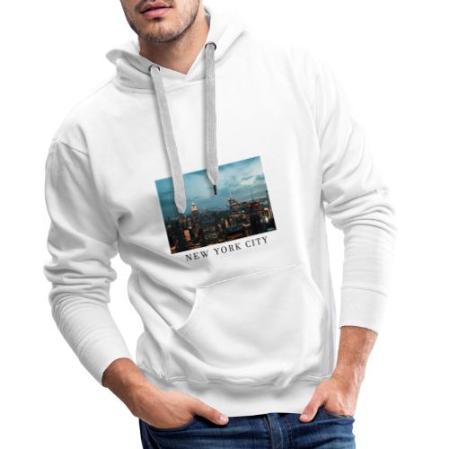 NEW YORK CITY, new york, new york photo, big city - Men's Premium Hoodie