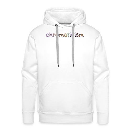 chromaticism logo tee (f) - Men's Premium Hoodie