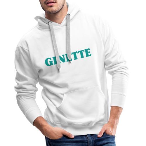 Ginette solo indigo - Sweat-shirt à capuche Premium pour hommes