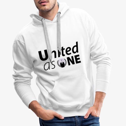 Anonymous United As One - Sweat-shirt à capuche Premium pour hommes