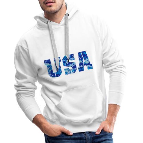 USA digital camo - Mannen Premium hoodie
