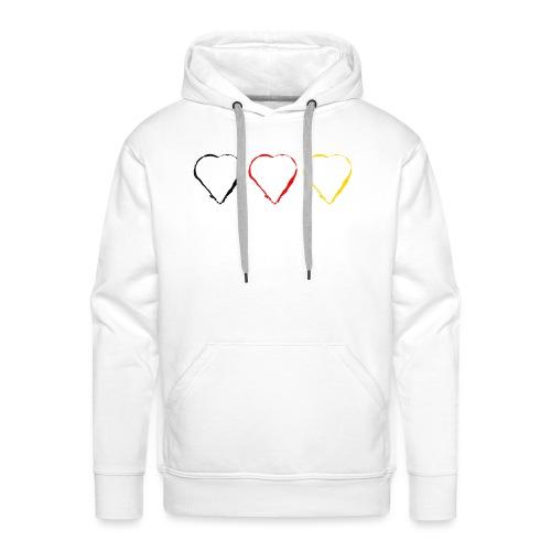 3 Herzen Deutschland #1 - Männer Premium Hoodie