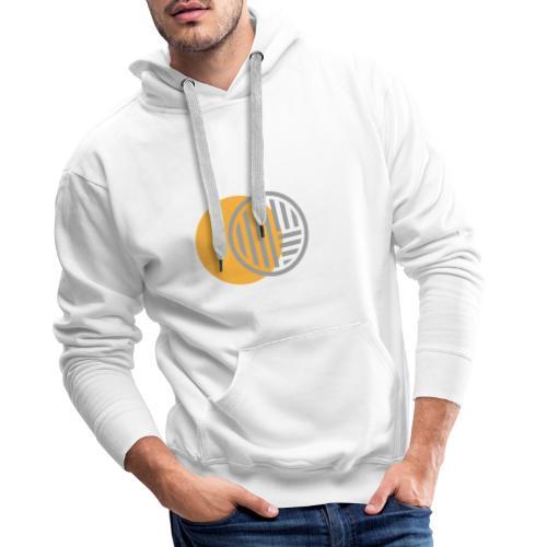 Jaune et Gris - Sweat-shirt à capuche Premium pour hommes