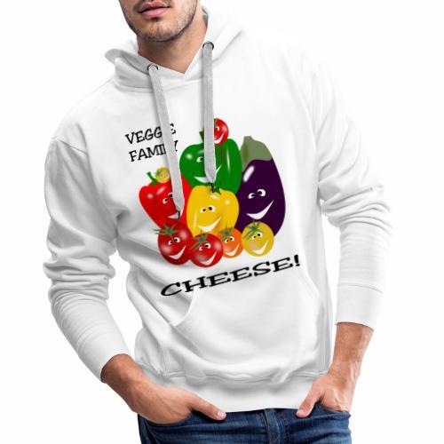 Veggie Family - Cheese - Men's Premium Hoodie