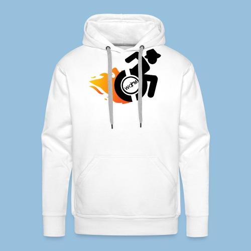Roller met vlammen 014 - Mannen Premium hoodie