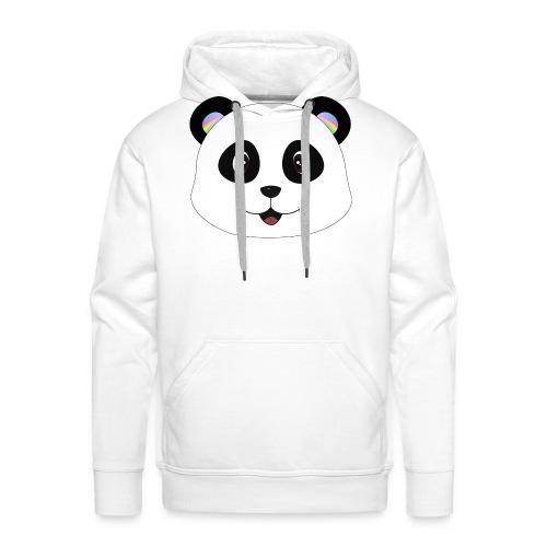 panda rainbow - Sudadera con capucha premium para hombre