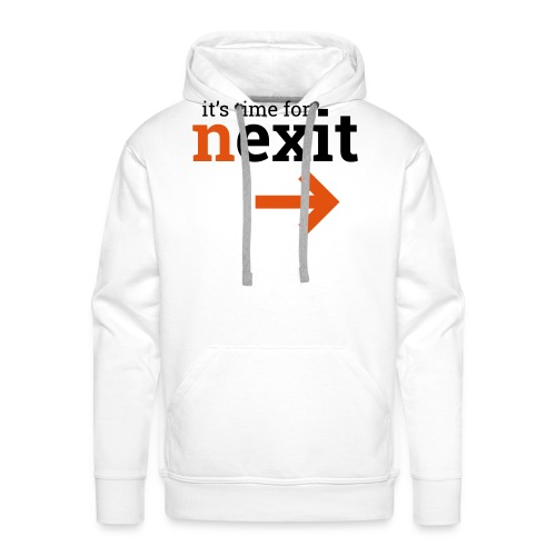its time for nexit logo in zwart oranje - Mannen Premium hoodie