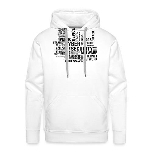 cyber security text print - Herre Premium hættetrøje