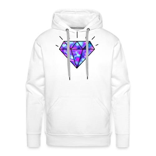 Diamant galaxie - Diamond galaxy - Sweat-shirt à capuche Premium pour hommes