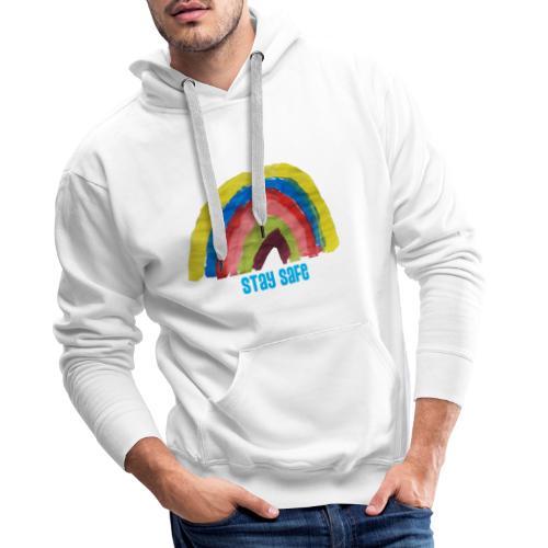 Stay Safe Rainbow Tshirt - Men's Premium Hoodie