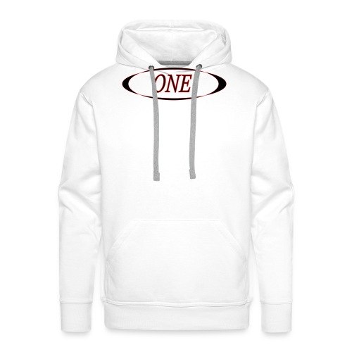 one - Sweat-shirt à capuche Premium pour hommes