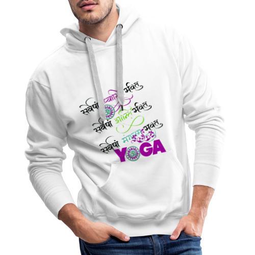 Sanskrit Yoga - Men's Premium Hoodie