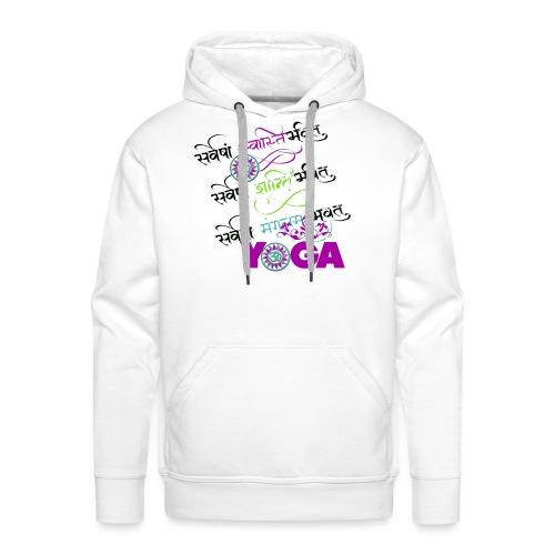 Yoga sanscrito - Felpa con cappuccio premium da uomo