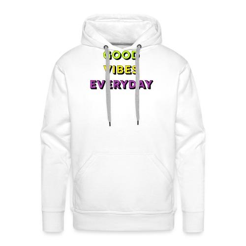 Ondes positives - Sweat-shirt à capuche Premium pour hommes