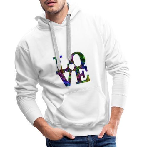 Love Fractale - Sweat-shirt à capuche Premium pour hommes