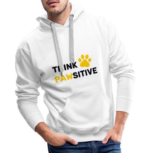 think pawsitive - Sweat-shirt à capuche Premium pour hommes