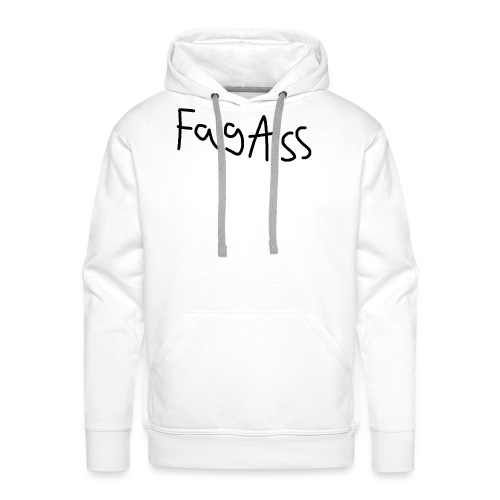 Fag Ass Logo #1 - Herre Premium hættetrøje
