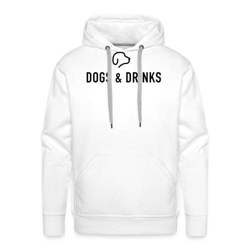 logo dogs and drinks zwart lettertype - Sweat-shirt à capuche Premium pour hommes