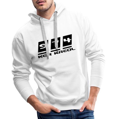 Logo écriture 974 Ker Kreol - Sweat-shirt à capuche Premium pour hommes