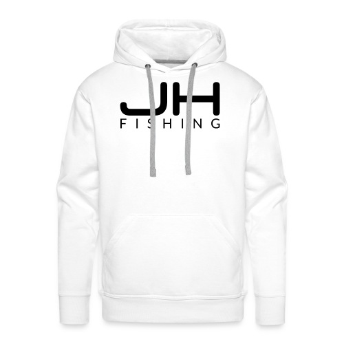 JH FISHING-Logo (Schwarz) - Männer Premium Hoodie