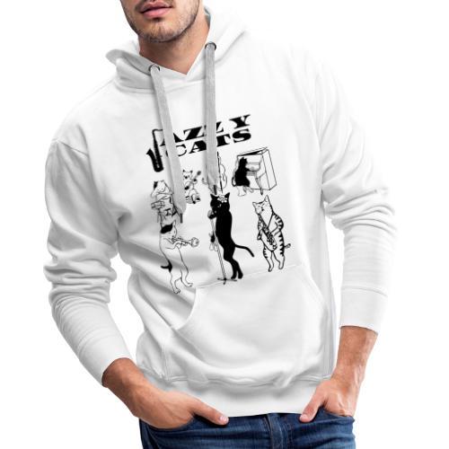 jazzy cats - Sweat-shirt à capuche Premium pour hommes