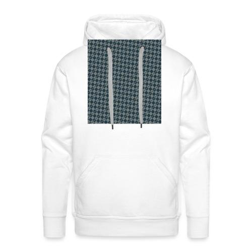 DAMIERS ABSTRAIT BLEUS/VERT - Sweat-shirt à capuche Premium pour hommes