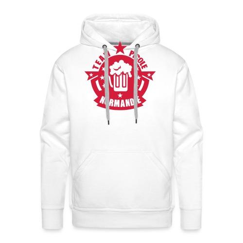 normandie team picole biere logo - Sweat-shirt à capuche Premium pour hommes