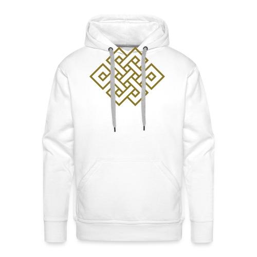 Endlos Knoten, Tibet, Unendlich, Glückssymbol - Männer Premium Hoodie