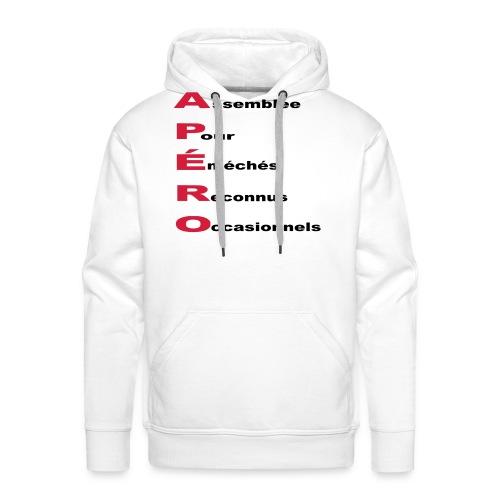 Humour apéro - Sweat-shirt à capuche Premium pour hommes