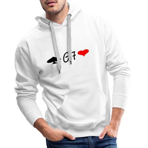 LOGOG7 - Sudadera con capucha premium para hombre