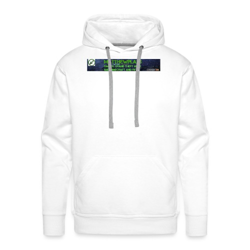 White YouTube Banner Tee - Men's Premium Hoodie