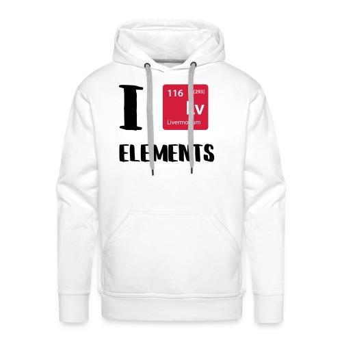 I love Elements - Männer Premium Hoodie