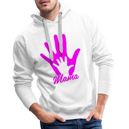 mamas hand - Sweat-shirt à capuche Premium pour hommes
