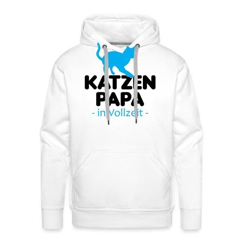 Katze Mann Geschenk Papa Vollzeit Katzenliebhaber - Männer Premium Hoodie