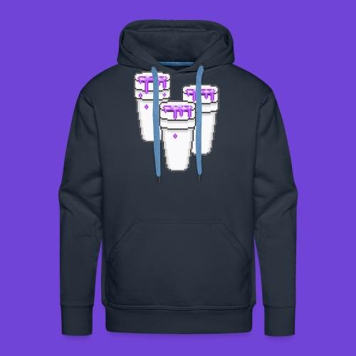 Purple - Felpa con cappuccio premium da uomo