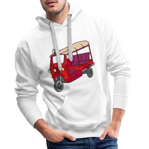 Rote Autorikscha, Tuk-tuk - Männer Premium Hoodie