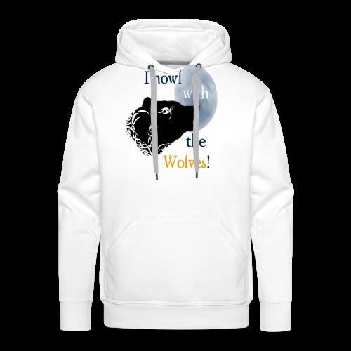 Wolf howl - Männer Premium Hoodie