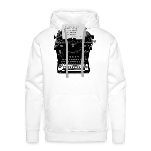 Oscar Wilde Quote on Old Remington 10 Typewriter - Men's Premium Hoodie