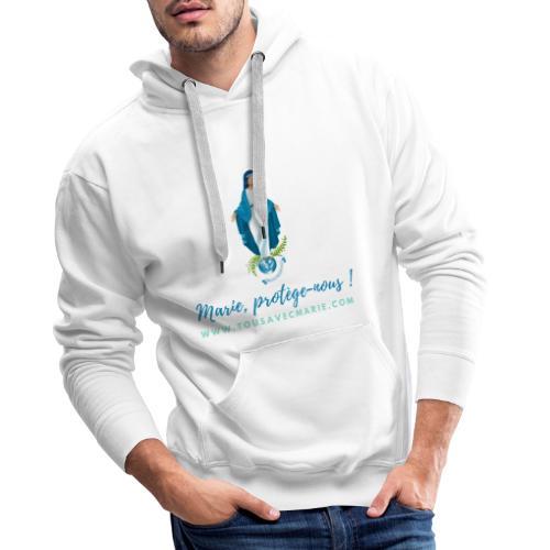 Marie, protège-nous ! - Sweat-shirt à capuche Premium pour hommes