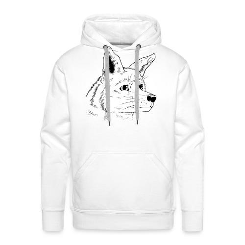 Strichzeichnung Fuchs - Männer Premium Hoodie