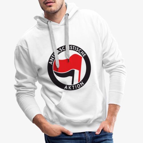 Atnifaschistische Action - Antifa Logo - Men's Premium Hoodie