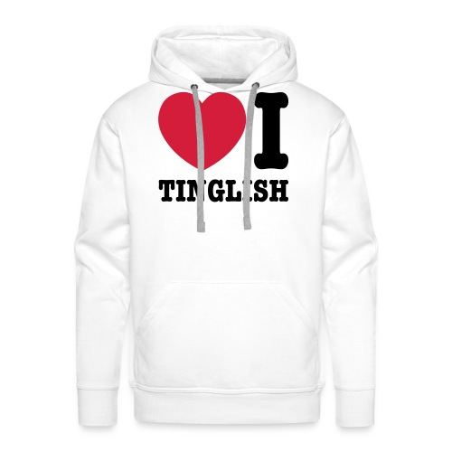 Heart (Love) I Tinglish - Men's Premium Hoodie