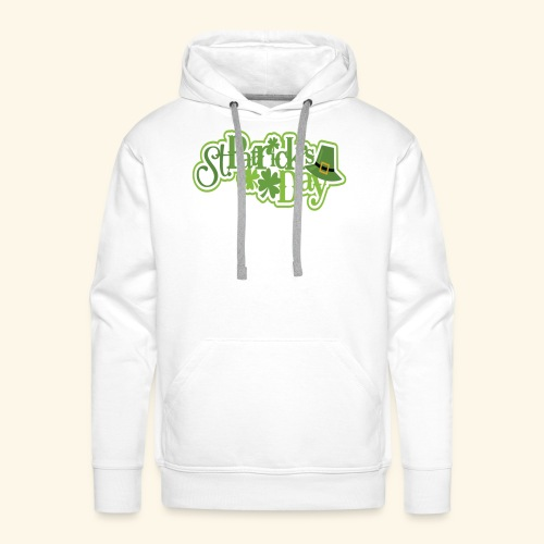 St Patrick`s Day Leprechaun Riding fun gift tshirt - Men's Premium Hoodie