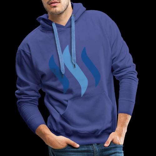 steem logo - Männer Premium Hoodie