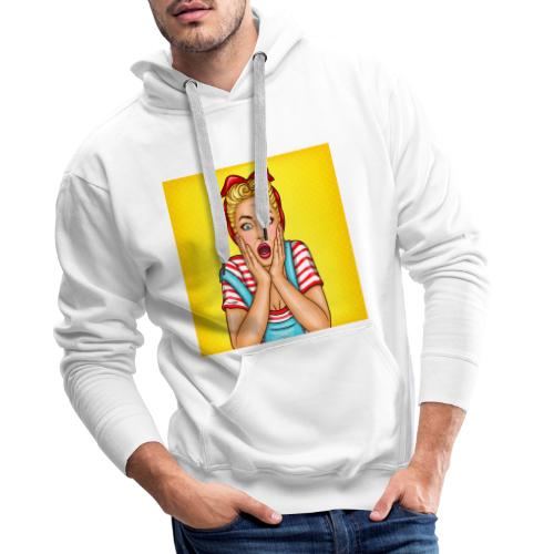 Asombro comic - Sudadera con capucha premium para hombre