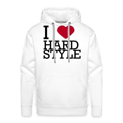 I LOVE HARDSTYLE - Mannen Premium hoodie