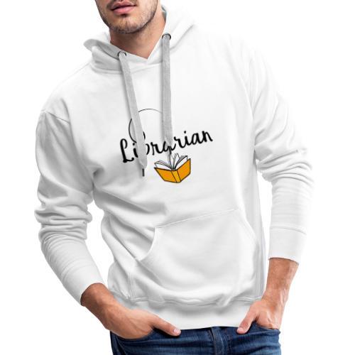 0326 Librarian & Librarian - Men's Premium Hoodie