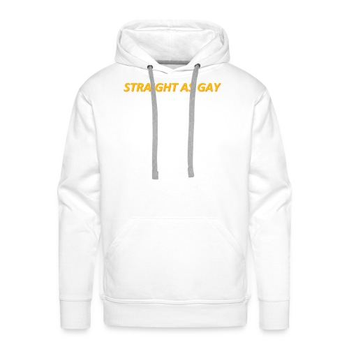 STRAIGHT AS GAY - Sweat-shirt à capuche Premium pour hommes