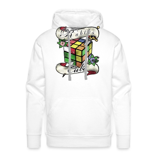 Rubik's Cube Tatoo - Bluza męska Premium z kapturem